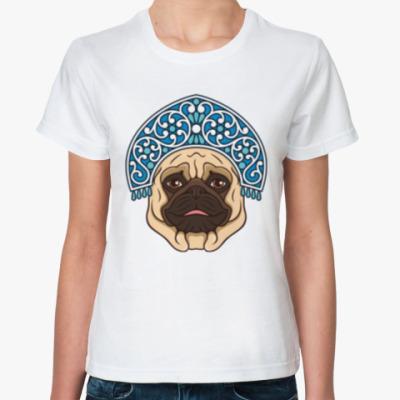 Классическая футболка Русский мопс. Russian pug.