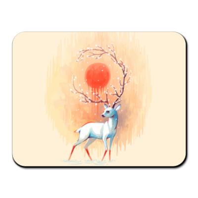 Коврик для мыши Дух весны белый олень