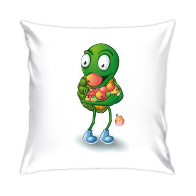 Подушка Добрый Черепашонок с яблоками