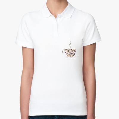 Женская рубашка поло Кофе из кофейных зерен