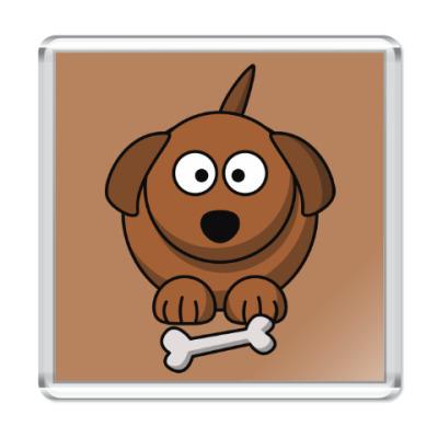 Магнит Собачка с косточкой