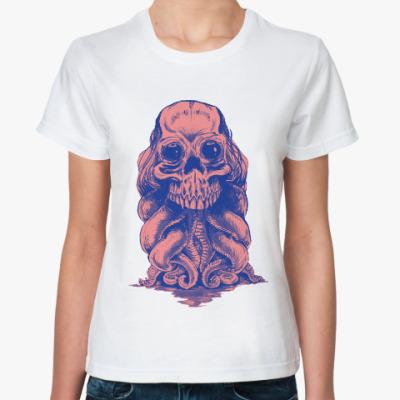 Классическая футболка Череп со щупальцами