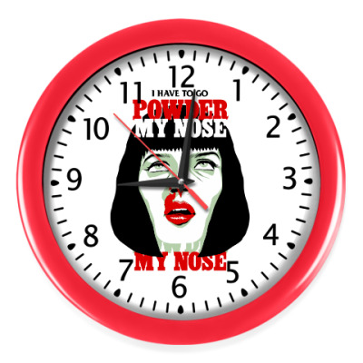 Настенные часы Mia Wallace Pulp Ficton