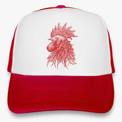 Кепка-тракер Красный петух символ Года