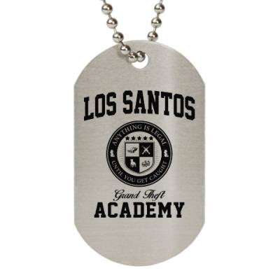 Жетон dog-tag Los Santos Grand Theft Academy