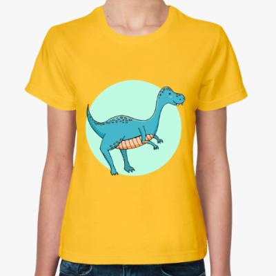 Женская футболка Динозаврик