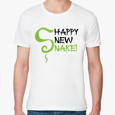 Футболка из органик-хлопка Happy new snake!