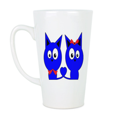 Чашка Латте Влюбленные котики