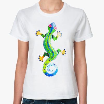 Классическая футболка Ящерка