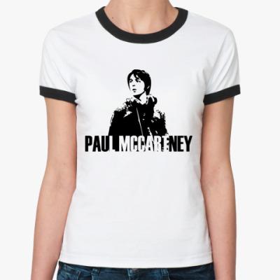 Женская футболка Ringer-T Paul Mccartney