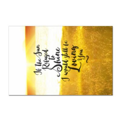 Наклейка (стикер) Признание в любви