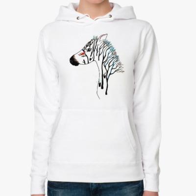 Женская толстовка худи Zebra