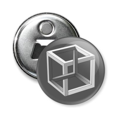Магнит-открывашка Невозможный Куб 3D