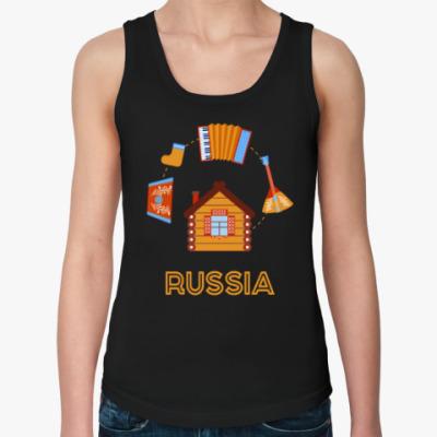 Женская майка Russia, Россия