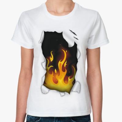 Классическая футболка Огонь