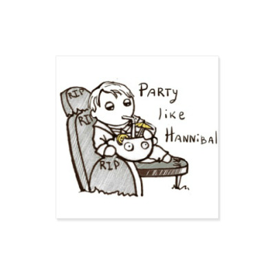 Виниловые наклейки Party Like Hannibal ( Ганнибал )