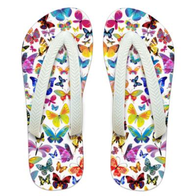 Шлепанцы (сланцы) Бабочки