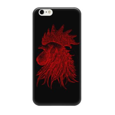 Чехол для iPhone 6/6s Красный петух символ Года