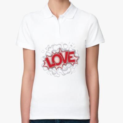 Женская рубашка поло LOVE