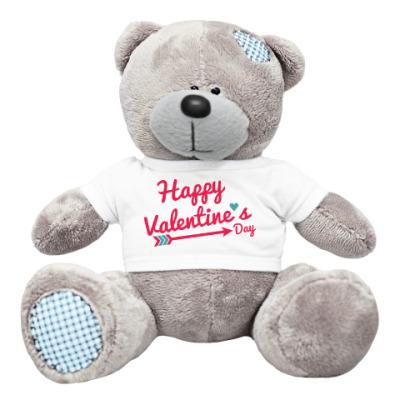 Плюшевый мишка Тедди Happy valentines day