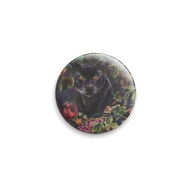 Значок 25мм Чёрная Пантера - тотемное животное