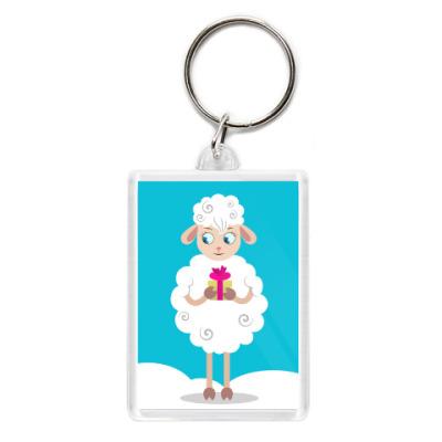 Брелок Новогодняя смешная овечка 2015