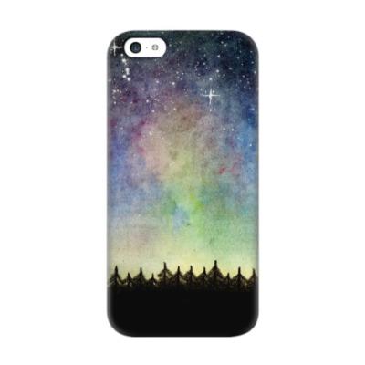 Чехол для iPhone 5c Космическое звездное небо