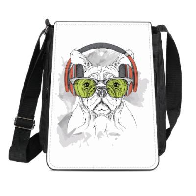 Сумка-планшет Собака в зеленых очках