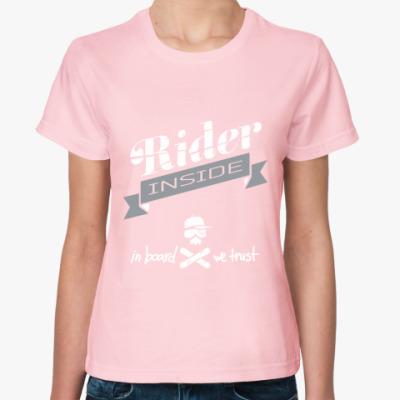 Женская футболка Rider - skull