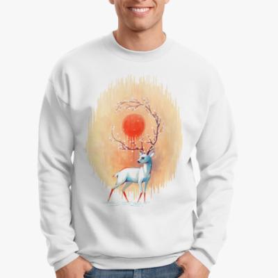 Свитшот Дух весны белый олень