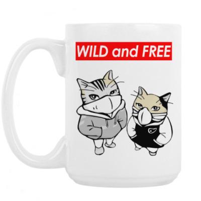 Кружка WILD and FREE ~ CAT КОТ