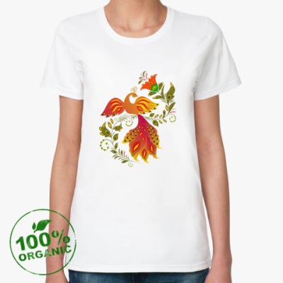 Женская футболка из органик-хлопка Жар-птица