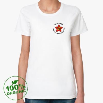 Женская футболка из органик-хлопка Красная Армия