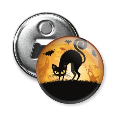 Магнит-открывашка Черная Кошка