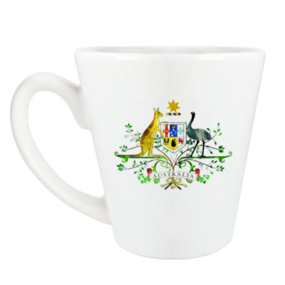 Чашка Латте Герб Австралии