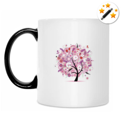 Кружка-хамелеон дерево