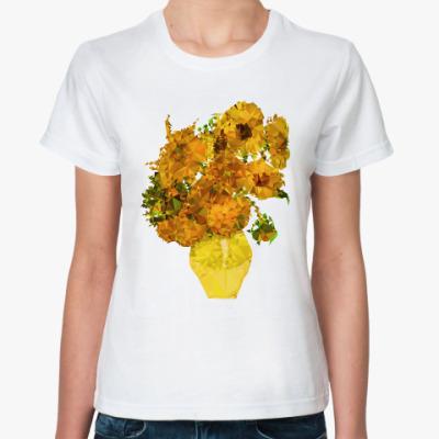 Классическая футболка Подсолнухи полигональные