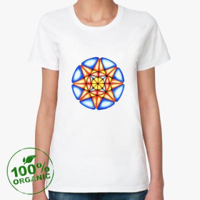 Женская футболка из органик-хлопка Калейдоскоп Июнь