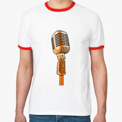 Футболка Ringer-T Микрофон
