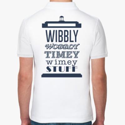 Рубашка поло Wibbly Wobbly Timey Wimey Stuf