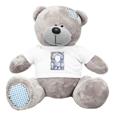 Плюшевый мишка Тедди Снегурочка. Новый год