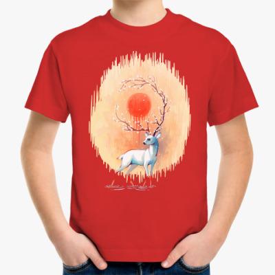 Детская футболка Дух весны белый олень