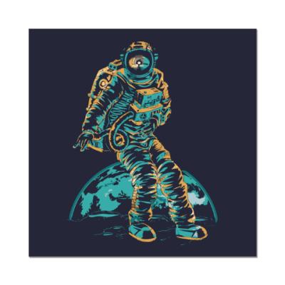 Наклейка (стикер) Космонавт