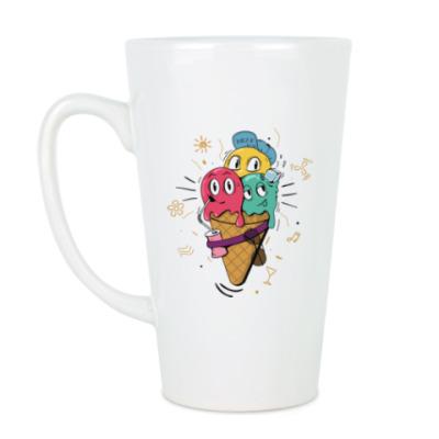 Чашка Латте Смешные шарики мороженного