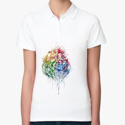 Женская рубашка поло Лев