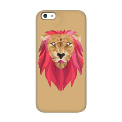 Чехол для iPhone 5c Лев / Lion