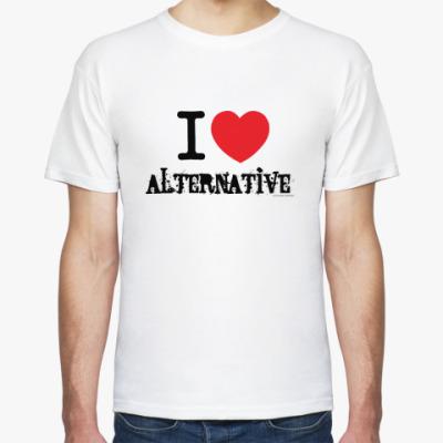 Футболка I love alternative