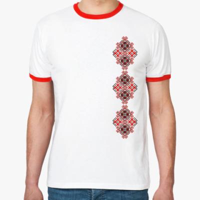 Футболка Ringer-T Украинский орнамент