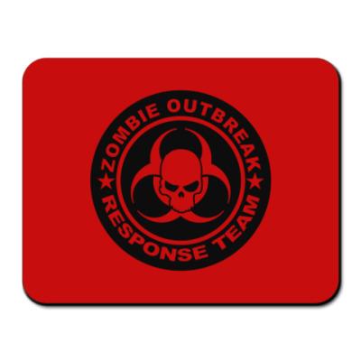Коврик для мыши Zombie outbreak response team