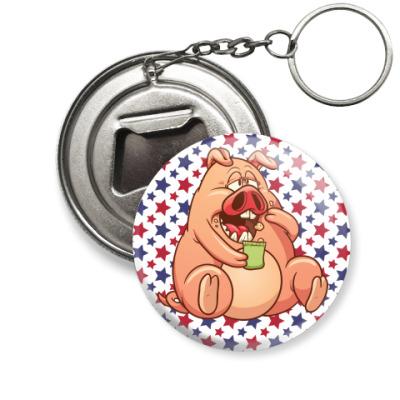 Брелок-открывашка Fat Pig